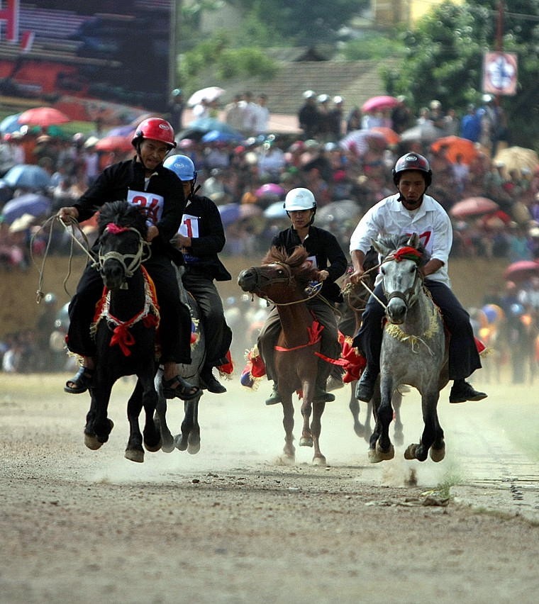 Lễ hội đua ngựa thu hút một lượng lớn khách du lịch tới Bắc Hà